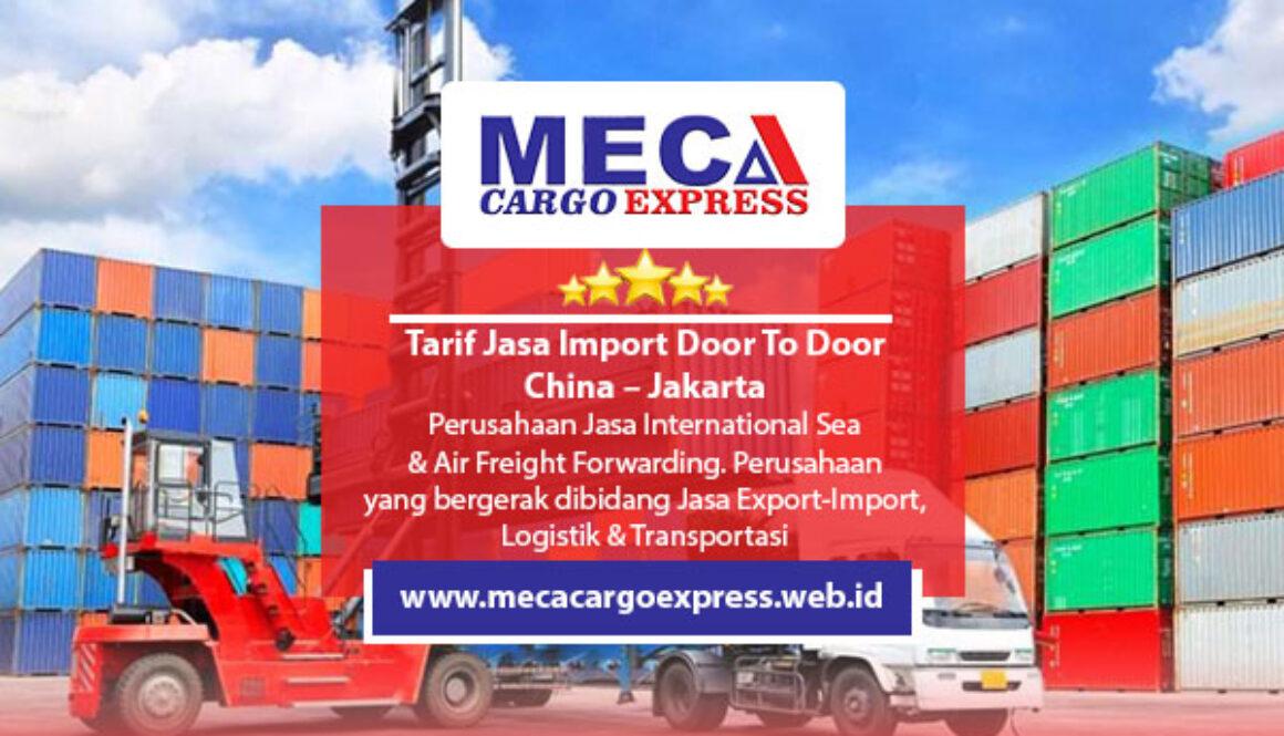Tarif Jasa Import Door To Door China - Jakarta